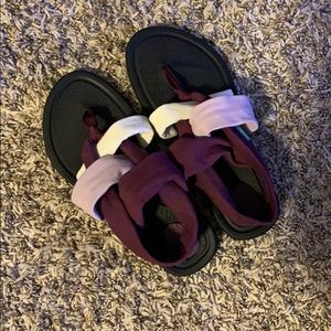 Sanuk Purple and Black Sandals